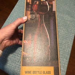 NIB wine bottle glass